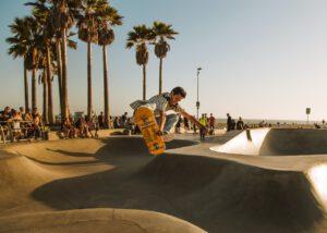Skateboarden contact